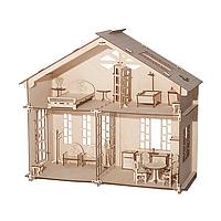 Акция! Большой домик для кукол с мебелью (конструктор). Ляльковий будинок.