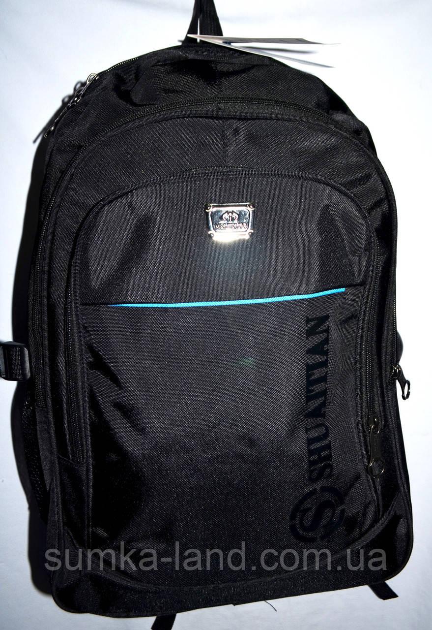 Мужской черный спортивный рюкзак 33*47 см