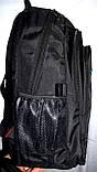 Мужской черный спортивный рюкзак 33*47 см, фото 2