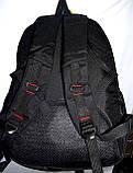 Мужской черный спортивный рюкзак 33*47 см, фото 3