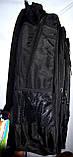 Мужской черный спортивный рюкзак 32*52 см, фото 2