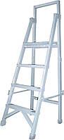 Лестница стремянка диэлектрическая с вертикальной опорой 2,5м