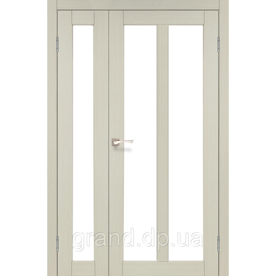 Двери межкомнатные Корфад TORINO Модель:TR-04 дуб беленый c матовым стеклом