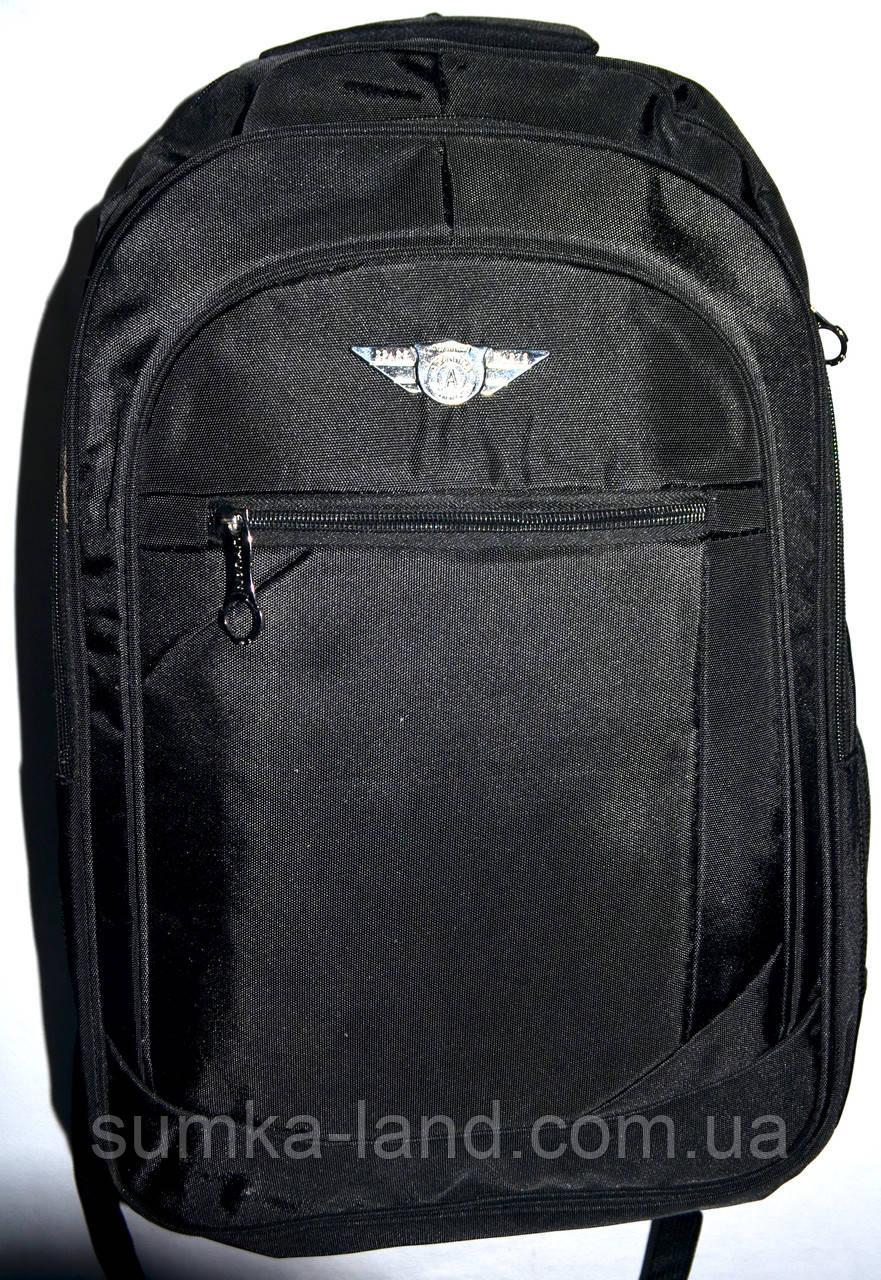 Мужской черный спортивный рюкзак 33*50 см