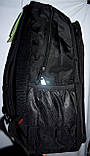Мужской черный спортивный рюкзак 33*50 см, фото 2