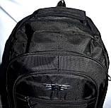 Мужской черный спортивный рюкзак 33*50 см, фото 4