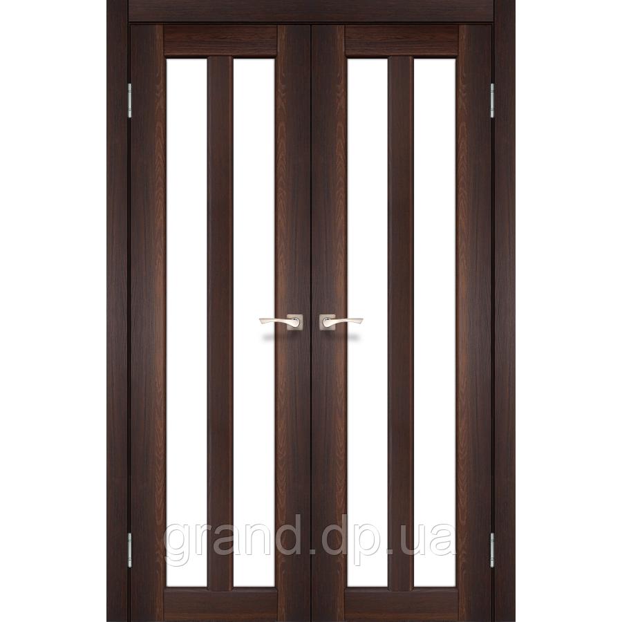 Двери межкомнатные Корфад TORINO Модель:TR-05 орех c матовым стеклом