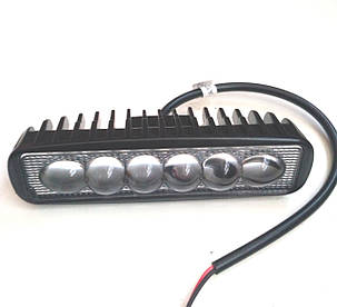 Led фара дополнительного света, ходовые огни 18 Вт Spot линза/6749, фото 2