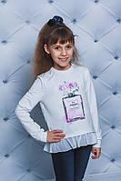Кофта для девочки с печатью белая
