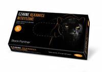 Рукавички медичні оглядові нітрилові нестерильні DOMAN Black Panther, 100 шт/уп, XL, фото 1