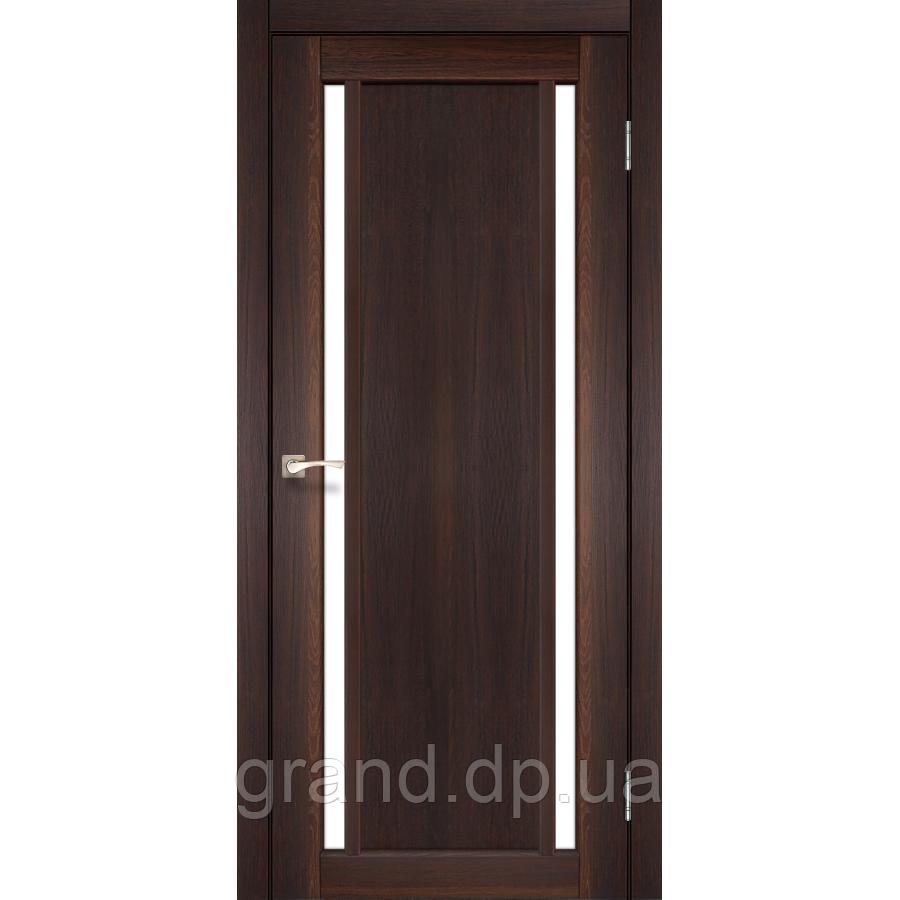 Двери межкомнатные  Корфад ORISTANO Модель:ОR-02 орех c матовым стеклом