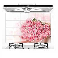 Водостойкая наклейка для кухни Розы, антижировая 750мм*450мм