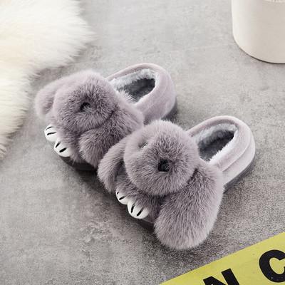 Детские тапочки утеплённые Кролик