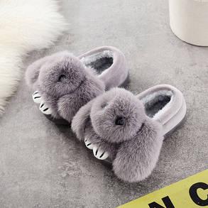 Детские тапочки утеплённые Кролик, фото 2