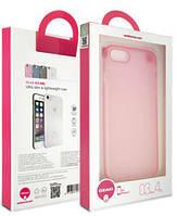 Чехол бампер ozaki oc735pk o!coat 0.3 jelly case for iphone 7/8 pink