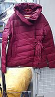 """Короткая весенняя женская куртка """"Миллана"""" бордо  от производителя"""