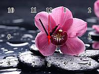 "Настенные часы ""Розовая орхидея SPA""  кварцевые, фото 1"