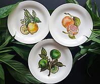 """Фарфоровые тарелки с ручной росписью """"Цитрусы"""""""