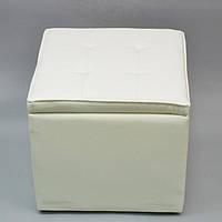 Пуфик белый MZ234