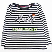 Детский реглан (футболка с длинным рукавом) р. 98 для девочки ткань 100% хлопок 1144 Черный