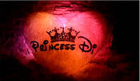 """Светящаяся подушка, Сердце с надписью «Princess Di"""""""