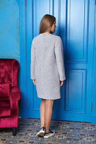 """Светлое короткое женское пальто из шерсти """"Р-2"""" (св. серый), фото 2"""