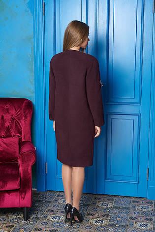 """Жіноче демісезонне пальто середньої довжини """"Р-2"""" (марсал), фото 2"""