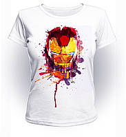 Футболка женская M GeekLand Железный Человек Iron Man маска краски Аrt IM.01.016