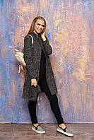 """Женское демисезонное пальто с карманами, поясом и отложным воротником """"Диор"""" (бежевый)"""