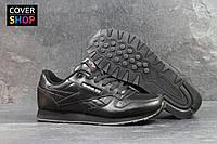 Кроссовки мужские Reebok Classic, материал - кожа, подошва - пена, черные