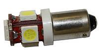Led лампы в габарит белый цвет BA9S 5Leds 5050SMD, 12V .