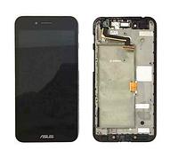 Оригинальный дисплей (модуль) + тачскрин (сенсор) с рамкой для Asus PadFone S PF500KL (черный цвет)