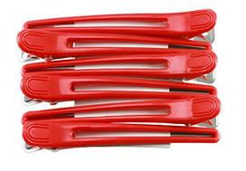 Зажим комбинированый цветной  для волос 6шт ZM-06