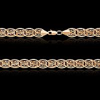 Золотая цепь 585 пробы, плетение Нонна/Бисмарк, 55 см