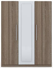 Шафа (шкаф) з ДСП/МДФ в спальню/вітальню/дитячу Martina H 3-х дверна дуб сонома трюфель+білий Blonski
