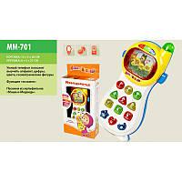 Умный телефонна русском Маша и медведь, детский телефон,Интерактивная развивающая игрушка,MM-701
