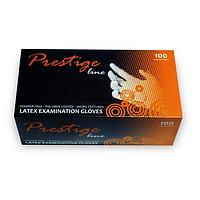 Рукавички латексні, неопудрені Prestige Line - 100 шт/уп, S