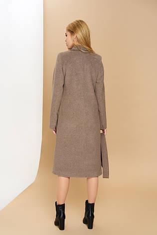 """Довге класичне жіноче пальто з поясом """"Р-1"""" (італійський кашемір - капучіно), фото 2"""