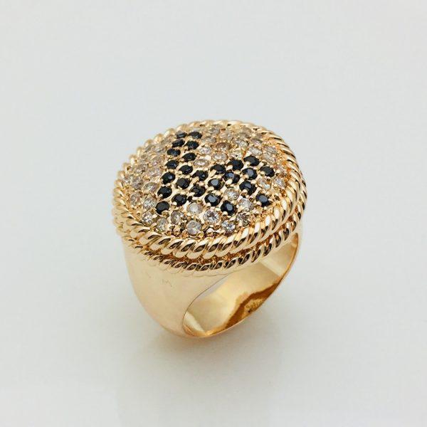 Кольцо Женское, размер 18, 19, 20 позолота 18К Fallon
