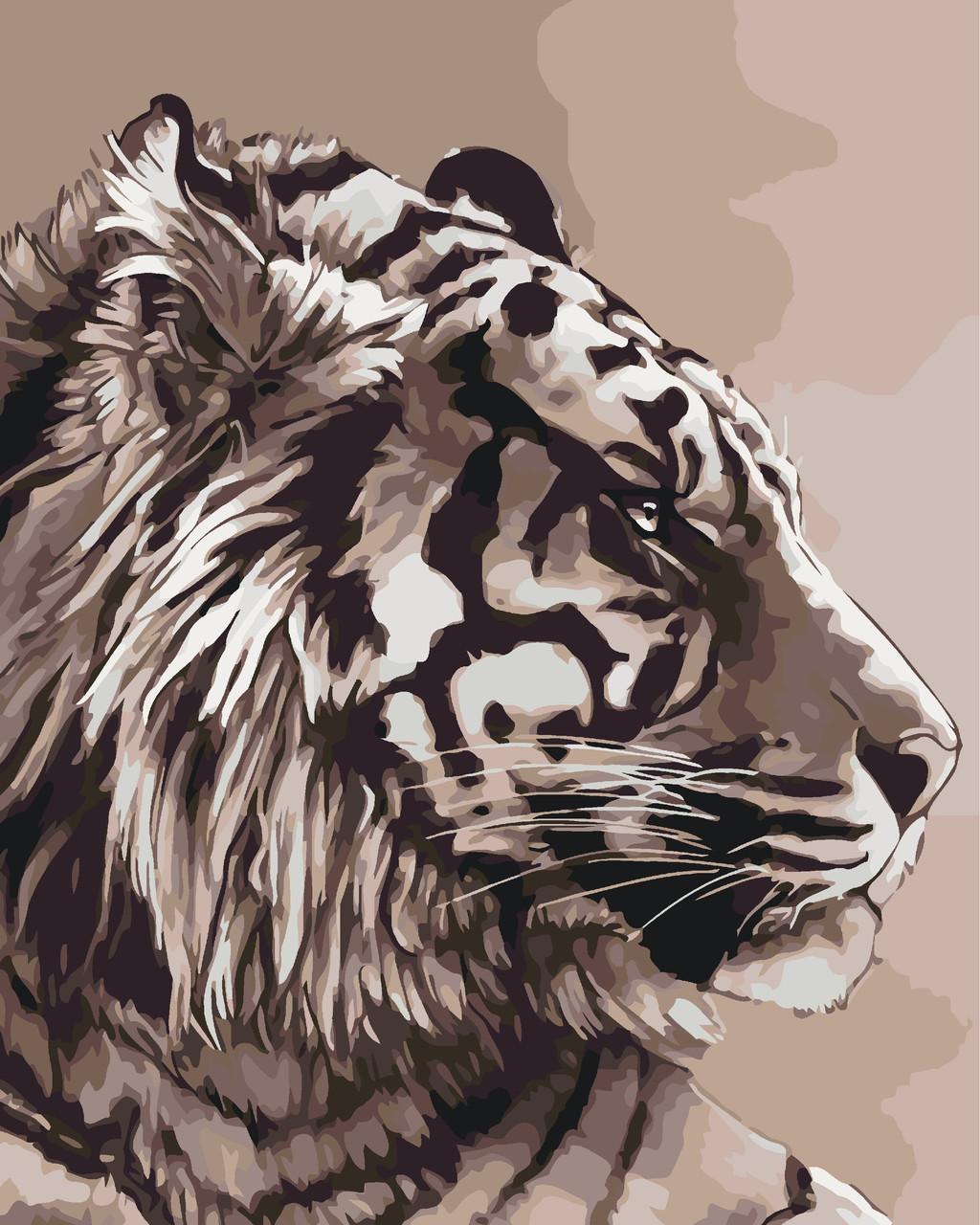 Роспись по номерам Амурский тигр (KH2496) Идейка 40 х 50 см