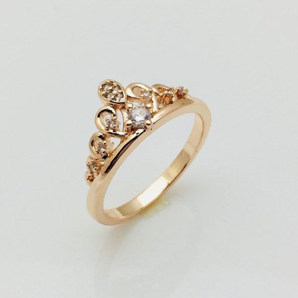 Кольцо коронка Арианда, размер 20 позолота 18К Fallon