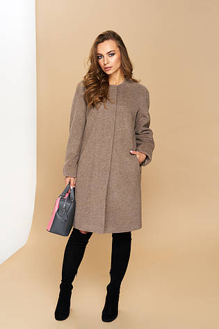 "Жіноче пряме пальто ""Р-2"" (італійський кашемір-капучіно), фото 2"