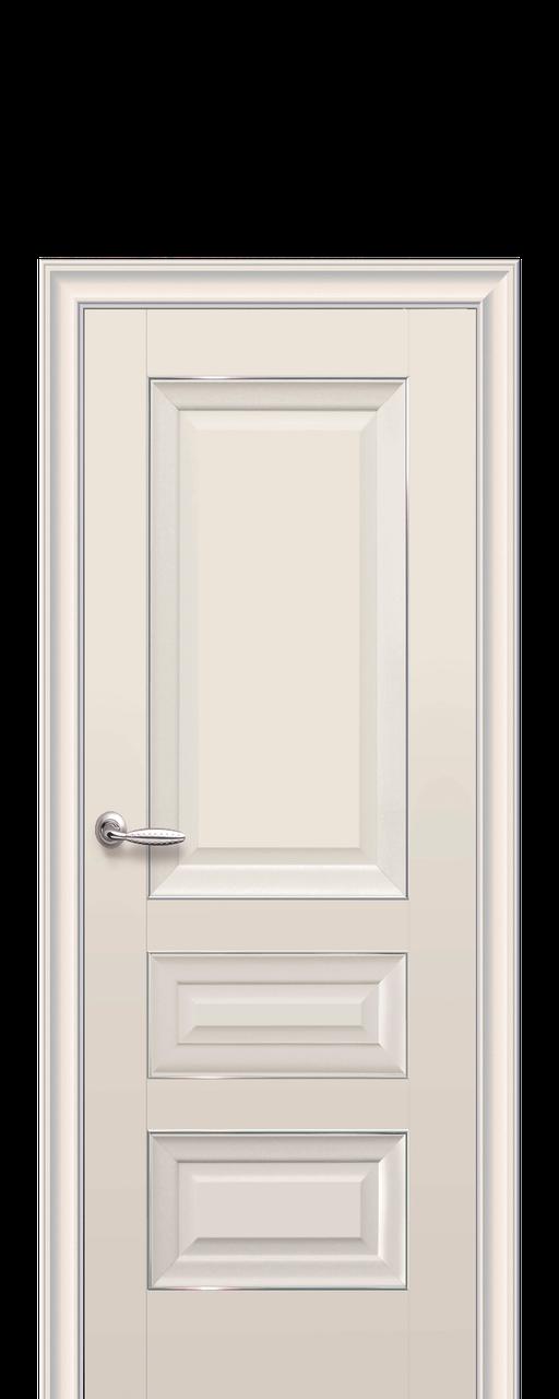 """Межкомнатные двери """"СТАТУС"""" глухое полотно с молдингом"""
