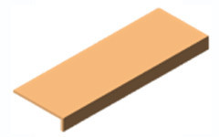 Подиум из МДФ L=900мм, W=390мм для экспопанели (экономпанели)