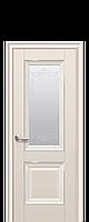 """Межкомнатные двери """"ИМИДЖ"""" со стеклом сатин, молдингом и рисунком, фото 1"""