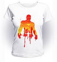 Футболка женская S GeekLand Железный Человек Iron Man orange Аrt IM.01.008