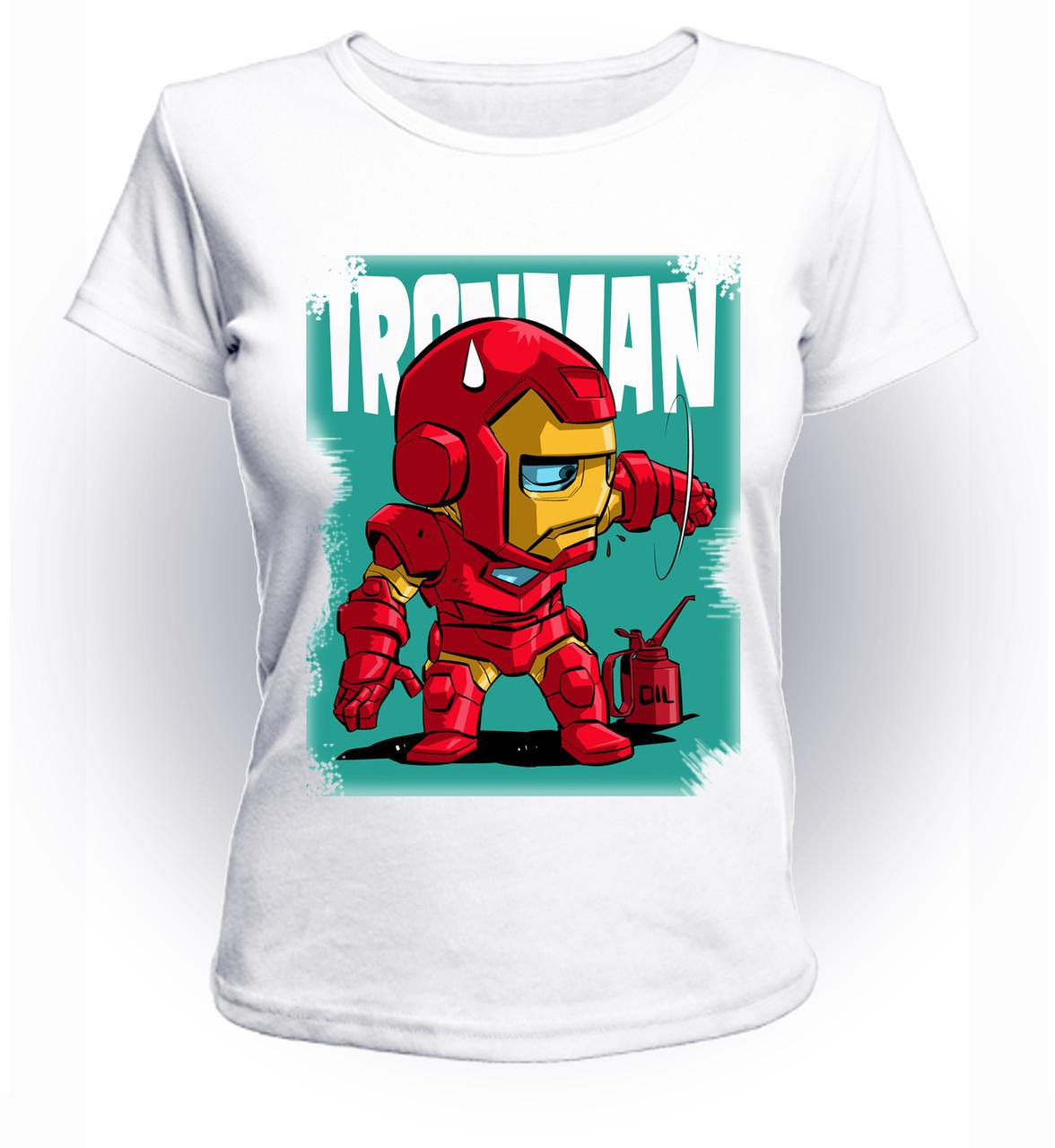 Футболка женская S GeekLand Железный Человек Iron Man cartoon Аrt IM.01.025