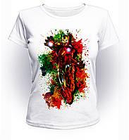 Футболка женская GeekLand Железный Человек Iron Man grunge Аrt IM.01.026