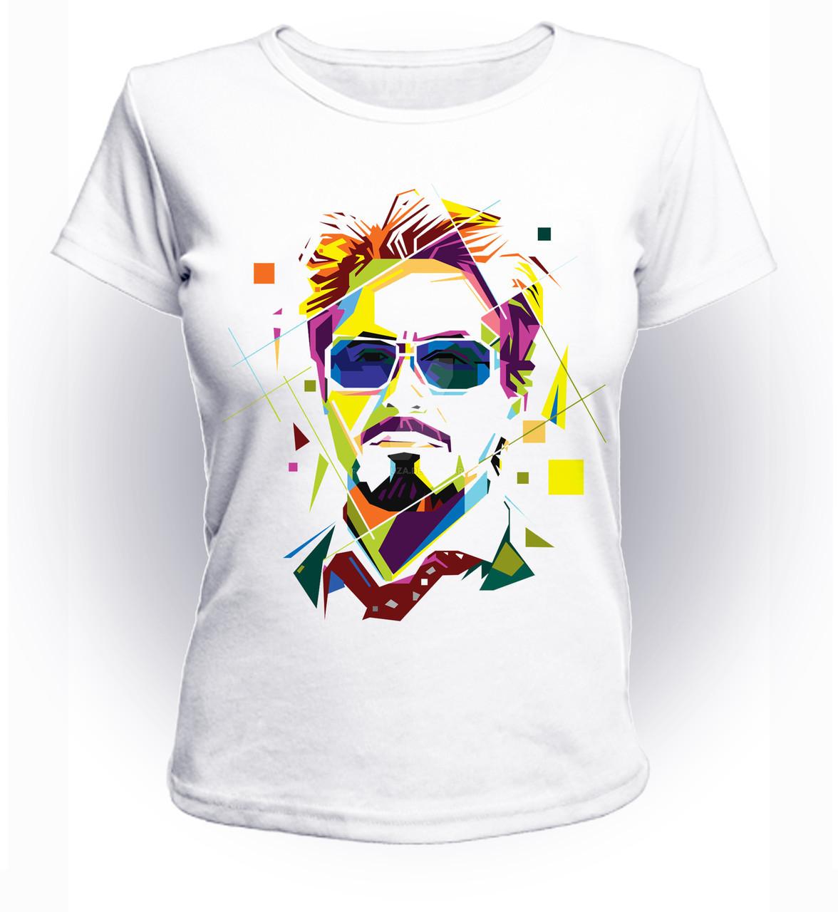 Футболка женская S GeekLand Железный Человек Iron Man Tony Stark lines art IM.01.035