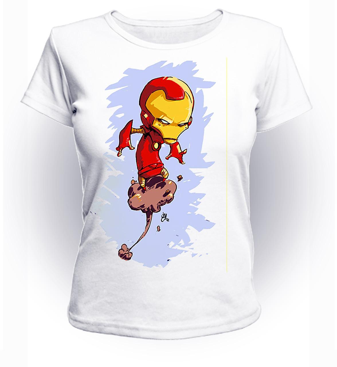Футболка женская S GeekLand Железный Человек Iron Man зарисовка art IM.01.040